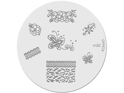 Placa de diseños KONAD. m50
