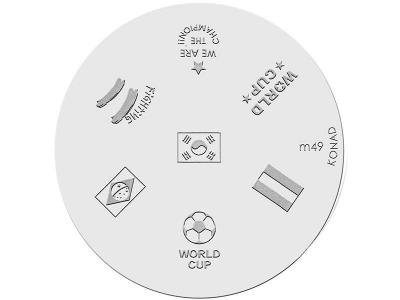 Placa de diseños KONAD. m49