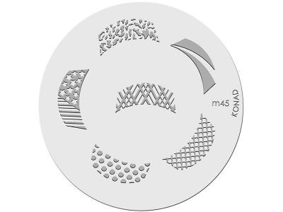 Placa de diseños KONAD. m45