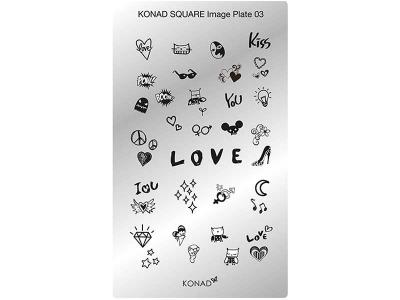Placa de diseños rectangular KONAD. c03