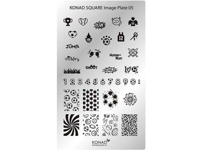 Placa de diseños rectangular KONAD. c05