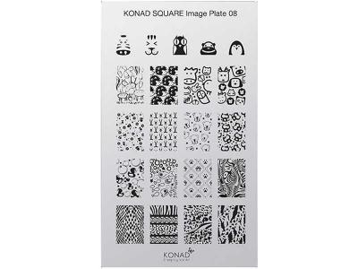 Placa de diseños rectangular KONAD. c08