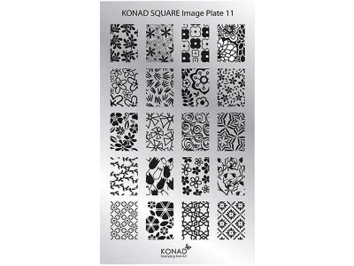 Placa de diseños rectangular KONAD. c11