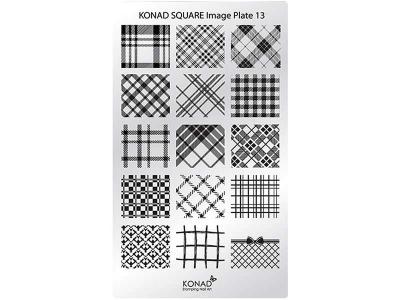 Placa de diseños rectangular KONAD. c13