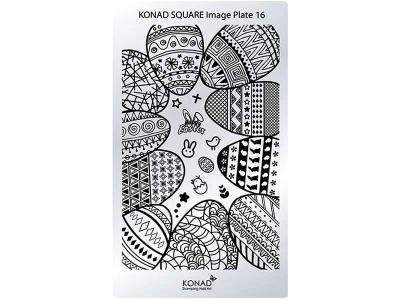Placa de diseños rectangular KONAD. c16