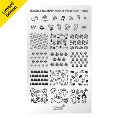Placa de diseños rectangular.Barabapa Hapy