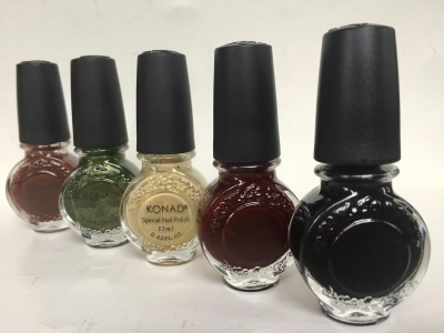 Set 5 esmalte especial Konad (11ml). Black