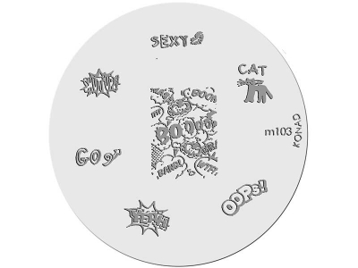 Placa de Diseños KONAD. m103