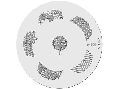Placa de Diseños KONAD. m102