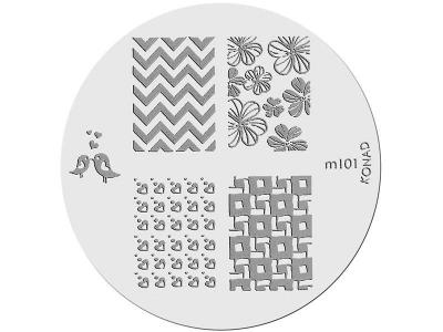 Placa de Diseños KONAD. m101