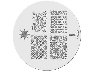 Placa de Diseños KONAD. m100