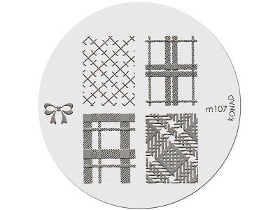 Placa de diseños KONAD. m107