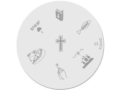Placa de diseños KONAD. s03