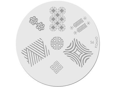 Placa de diseños KONAD. s06